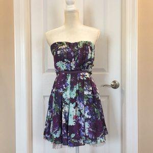 floral strapless dress Jrs M